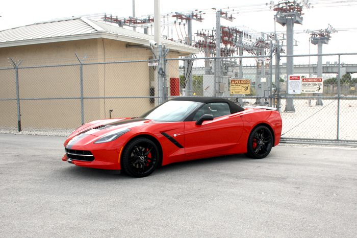 Corvette Stingray Red Convertible Rental Orlando