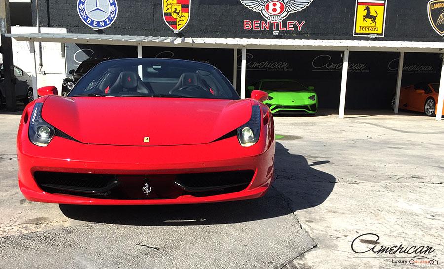 Ferrari 458 Italia Spider Rental In Orlando American Luxury Orlando