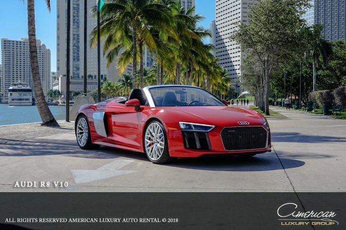 Audi R8 V10 Spyder Rental in Orlando
