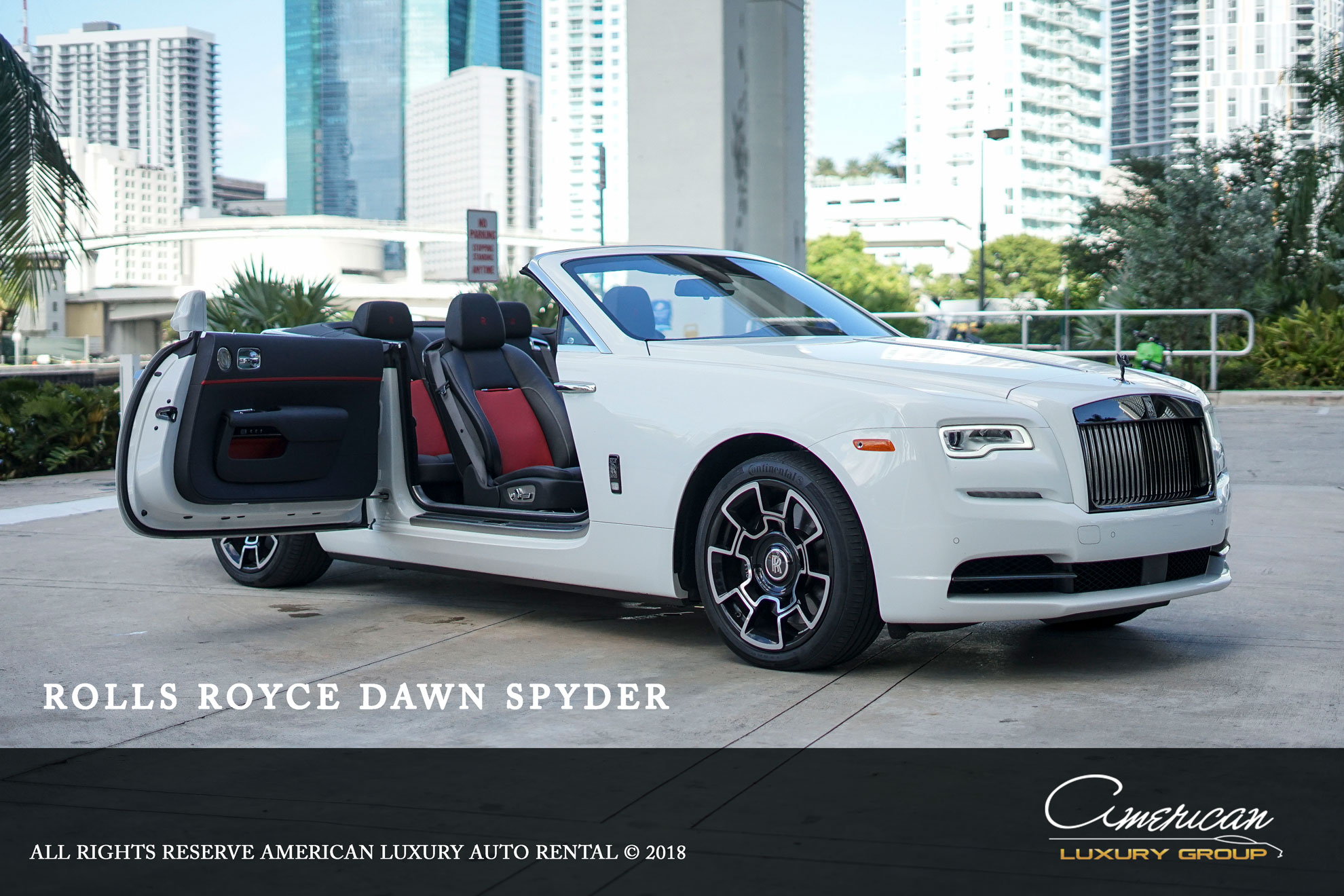Rolls Royce Dawn Black Badge Edition Rental In Orlando