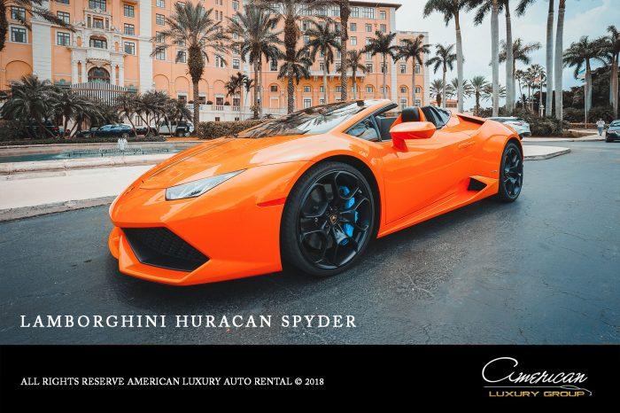 Lamborghini Huracan Spyder Rental in Orlando