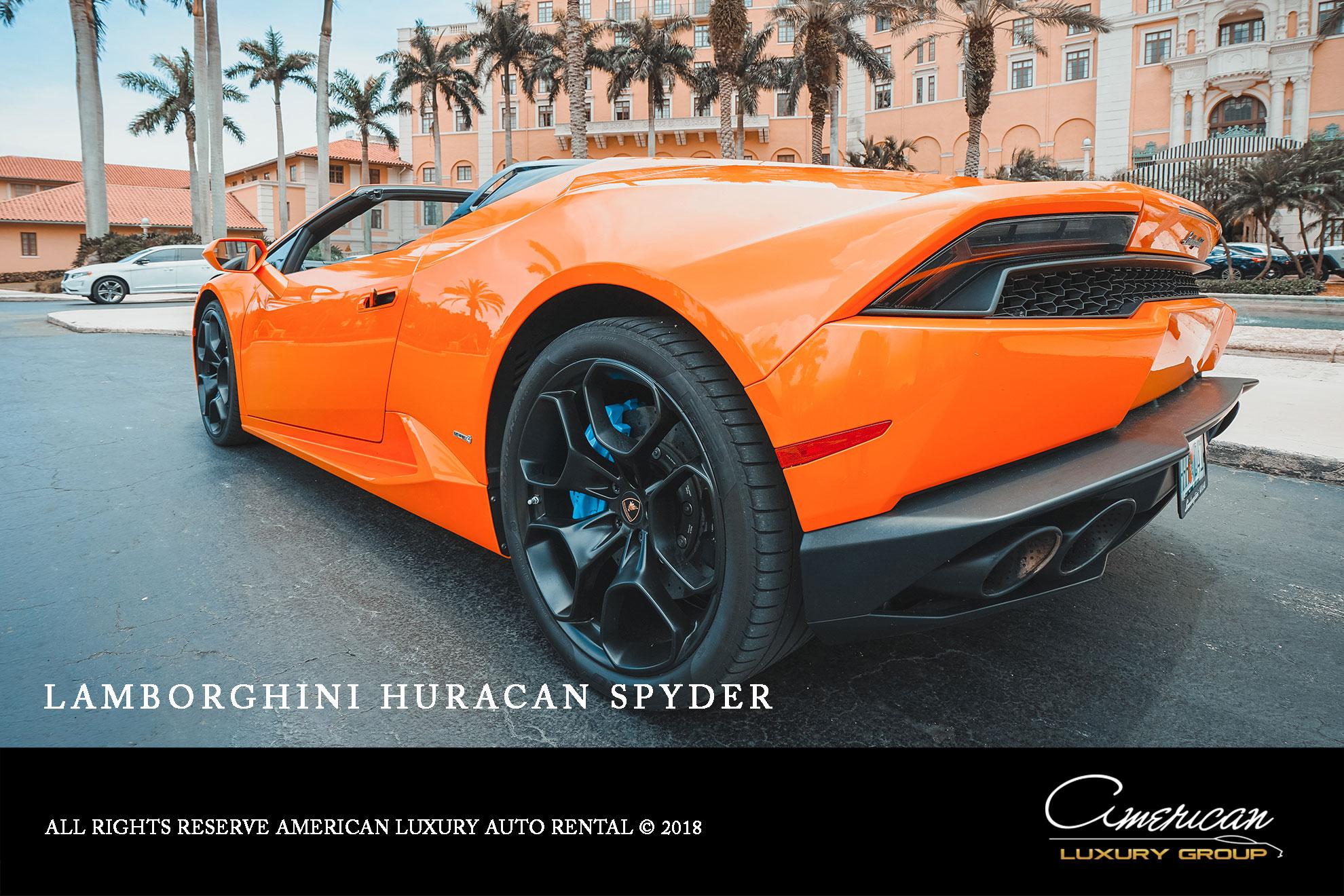 Lamborghini Huracan Spyder Rental In Orlando American Luxury Auto